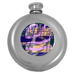 Abstract high art by Moma Round Hip Flask (5 oz)