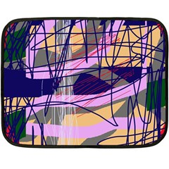 Abstract high art by Moma Double Sided Fleece Blanket (Mini)