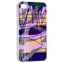 Abstract high art by Moma Apple iPhone 4/4s Seamless Case (White)