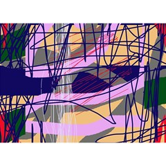 Abstract high art by Moma Birthday Cake 3D Greeting Card (7x5)