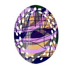 Abstract high art by Moma Ornament (Oval Filigree)