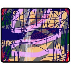 Abstract high art by Moma Double Sided Fleece Blanket (Medium)