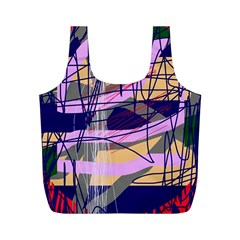 Abstract high art by Moma Full Print Recycle Bags (M)