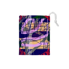 Abstract high art by Moma Drawstring Pouches (Small)
