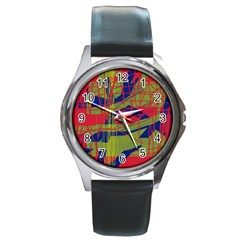High art by Moma Round Metal Watch