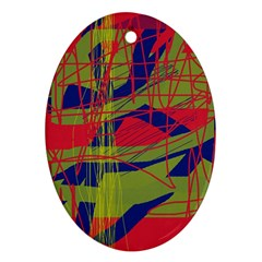 High art by Moma Ornament (Oval)