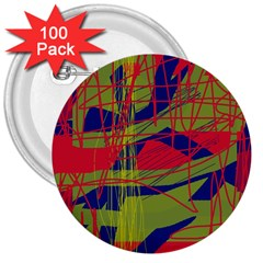 High art by Moma 3  Buttons (100 pack)