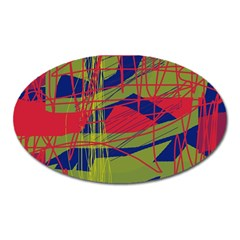 High art by Moma Oval Magnet