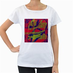 High art by Moma Women s Loose-Fit T-Shirt (White)