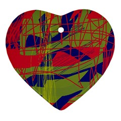 High art by Moma Heart Ornament (2 Sides)