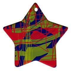 High art by Moma Star Ornament (Two Sides)