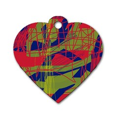 High art by Moma Dog Tag Heart (One Side)