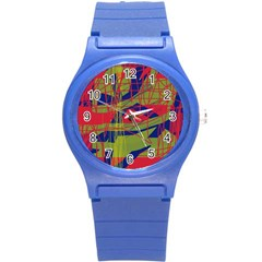 High art by Moma Round Plastic Sport Watch (S)
