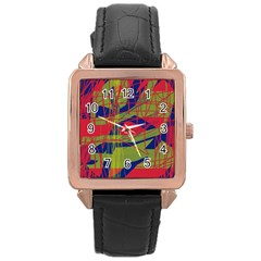 High art by Moma Rose Gold Leather Watch
