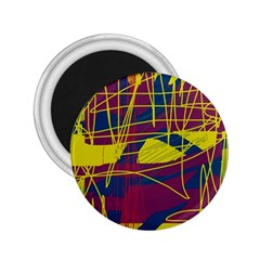 Yellow high art abstraction 2.25  Magnets