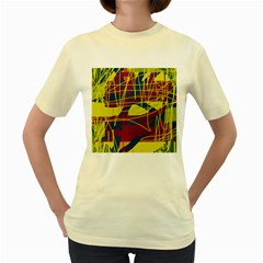 Yellow high art abstraction Women s Yellow T-Shirt