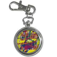 Yellow high art abstraction Key Chain Watches