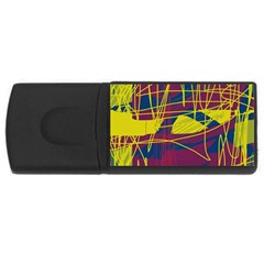 Yellow high art abstraction USB Flash Drive Rectangular (4 GB)