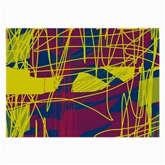 Yellow high art abstraction Large Glasses Cloth