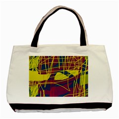 Yellow high art abstraction Basic Tote Bag (Two Sides)