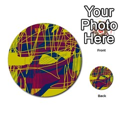 Yellow high art abstraction Multi-purpose Cards (Round)