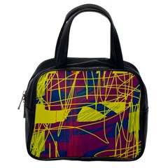 Yellow high art abstraction Classic Handbags (One Side)