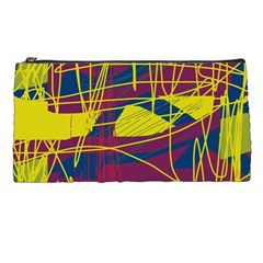 Yellow high art abstraction Pencil Cases