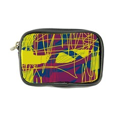 Yellow high art abstraction Coin Purse