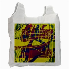 Yellow high art abstraction Recycle Bag (Two Side)