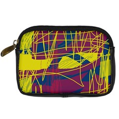 Yellow high art abstraction Digital Camera Cases