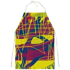 Yellow high art abstraction Full Print Aprons
