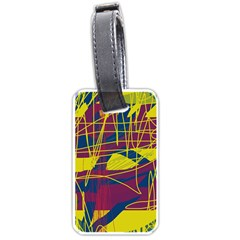 Yellow high art abstraction Luggage Tags (One Side)
