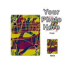 Yellow high art abstraction Playing Cards 54 (Mini)
