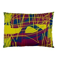 Yellow high art abstraction Pillow Case (Two Sides)