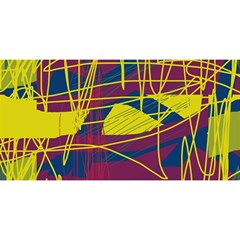 Yellow high art abstraction YOU ARE INVITED 3D Greeting Card (8x4)