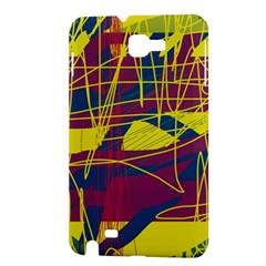 Yellow high art abstraction Samsung Galaxy Note 1 Hardshell Case