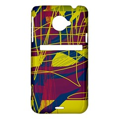 Yellow high art abstraction HTC Evo 4G LTE Hardshell Case
