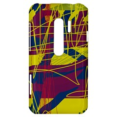 Yellow high art abstraction HTC Evo 3D Hardshell Case