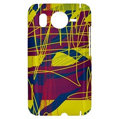 Yellow high art abstraction HTC Desire HD Hardshell Case