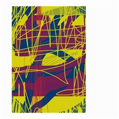 Yellow high art abstraction Small Garden Flag (Two Sides)