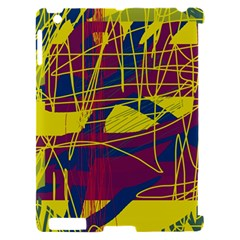 Yellow high art abstraction Apple iPad 2 Hardshell Case (Compatible with Smart Cover)
