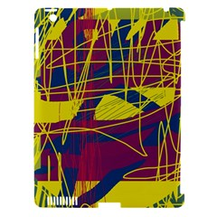 Yellow high art abstraction Apple iPad 3/4 Hardshell Case (Compatible with Smart Cover)
