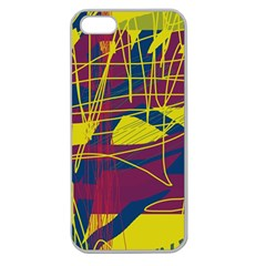 Yellow high art abstraction Apple Seamless iPhone 5 Case (Clear)