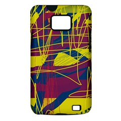Yellow high art abstraction Samsung Galaxy S II i9100 Hardshell Case (PC+Silicone)