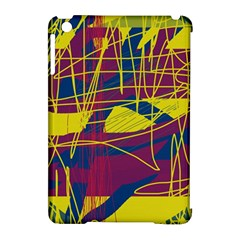 Yellow high art abstraction Apple iPad Mini Hardshell Case (Compatible with Smart Cover)