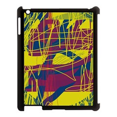Yellow high art abstraction Apple iPad 3/4 Case (Black)