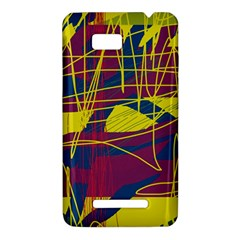 Yellow high art abstraction HTC One SU T528W Hardshell Case