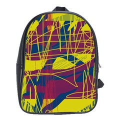 Yellow high art abstraction School Bags (XL)