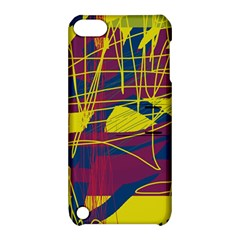 Yellow high art abstraction Apple iPod Touch 5 Hardshell Case with Stand