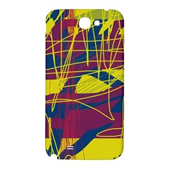 Yellow high art abstraction Samsung Note 2 N7100 Hardshell Back Case
